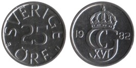 25 эре 1982 Швеция
