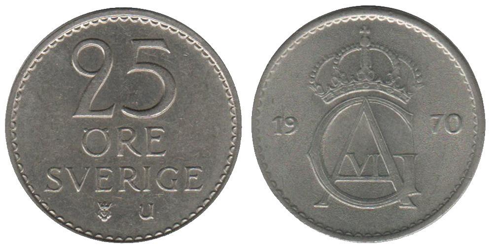 25 эре 1970 Швеция
