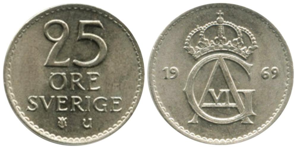 25 эре 1969 Швеция