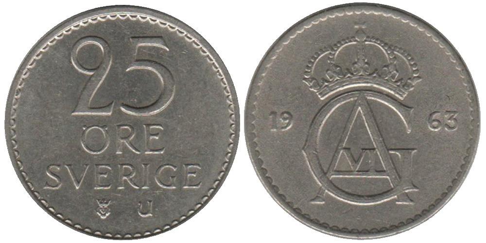 25 эре 1963 Швеция