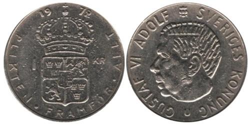 1 крона 1972 Швеция