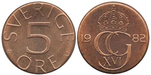 5 эре 1982 Швеция