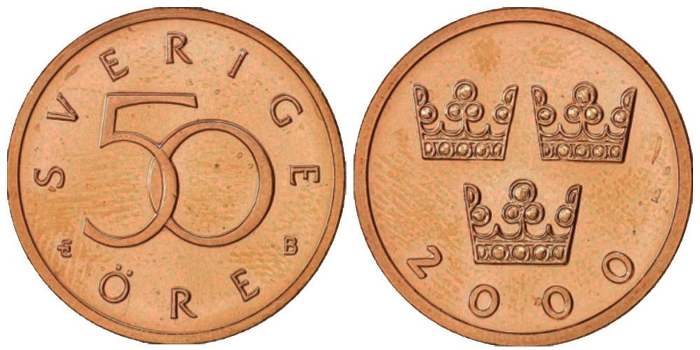 50 эре 2000 Швеция