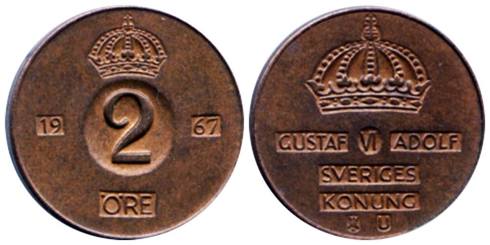 2 эре 1967 Швеция