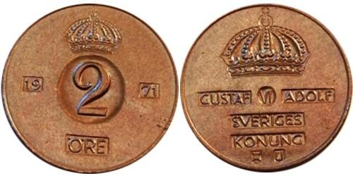 2 эре 1971 Швеция