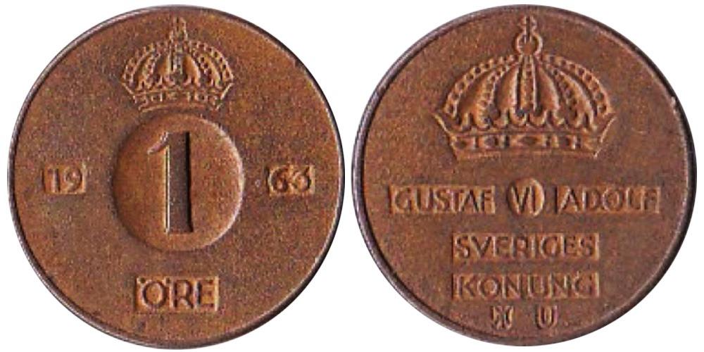 1 эре 1963 Швеция