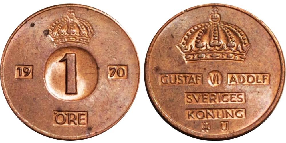 1 эре 1970 Швеция