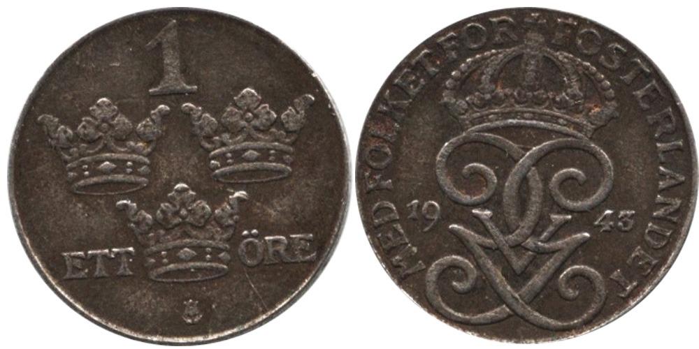 1 эре 1943 Швеция