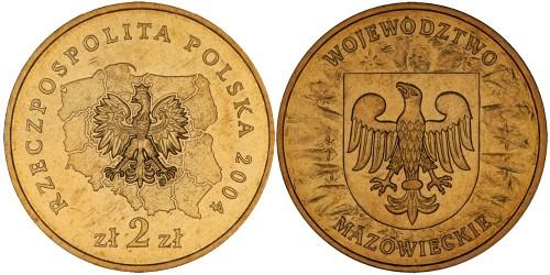 2 злотых 2004 Польша — Регионы Польши — Мазовецкое воеводство