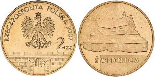 2 злотых 2007 Польша — Древние города Польши — Свидница