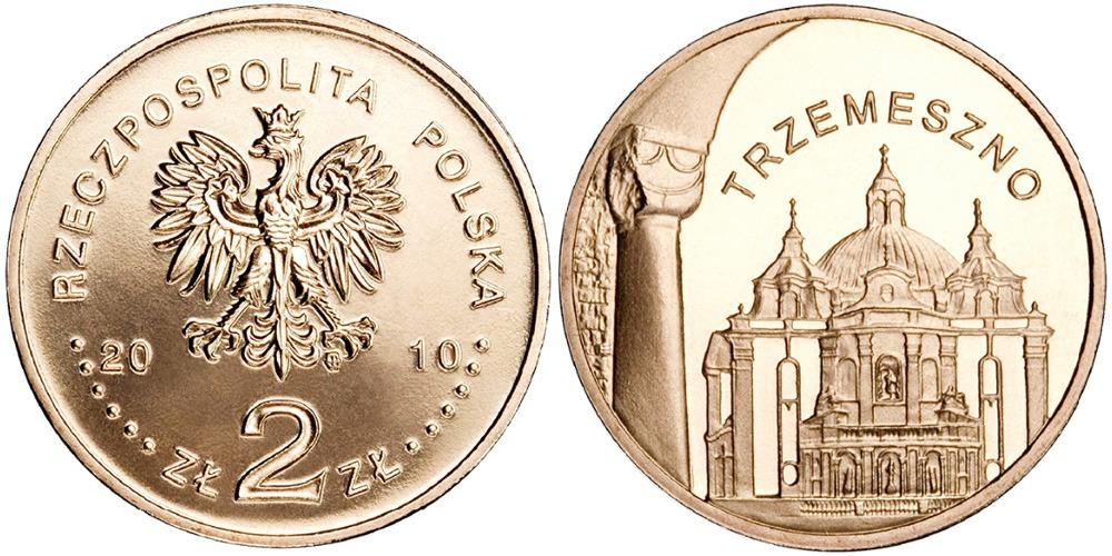 2 злотых 2010 Польша — Города Польши — Тшемешно