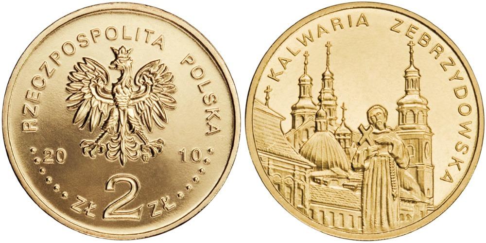 2 злотых 2010 Польша — Города Польши — Кальваря-Зебжидовская