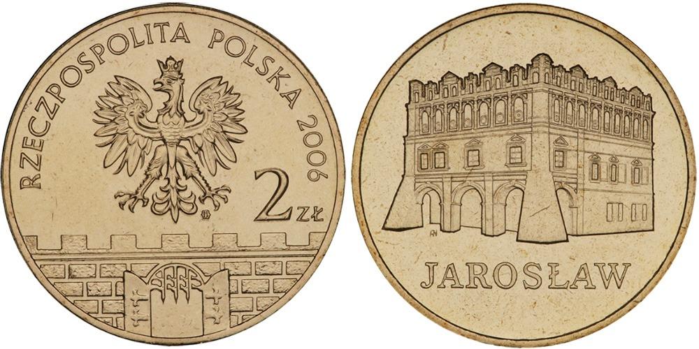 2 злотых 2006 Польша — Древние города Польши — Ярослав