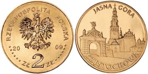2 злотых 2009 Польша — Города Польши — Ченстохова