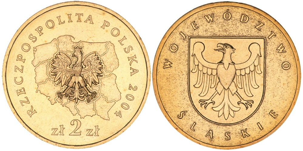 2 злотых 2004 Польша — Регионы Польши — Силезское воеводство
