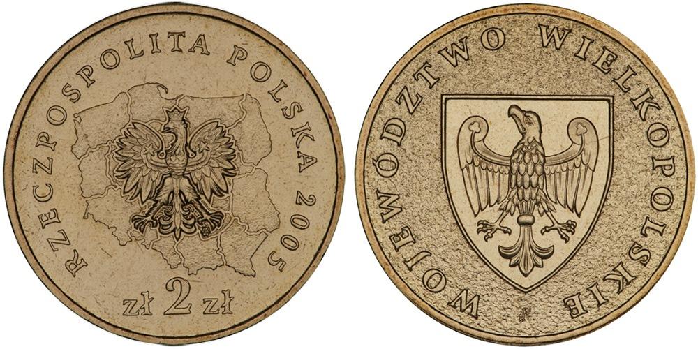 2 злотых 2005 Польша — Регионы Польши — Великопольское воеводство
