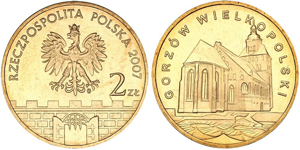 2 злотых 2007 Польша — Древние города Польши — Гожув-Велькопольский
