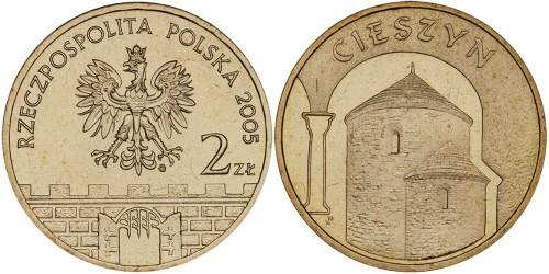 2 злотых 2005 Польша — Древние города Польши — Цешин