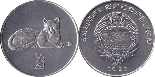 1/2 чона 2002 Северная Корея — Мир животных — Леопард