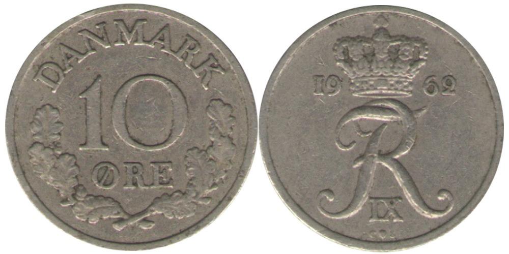 10 эре 1962 Дания
