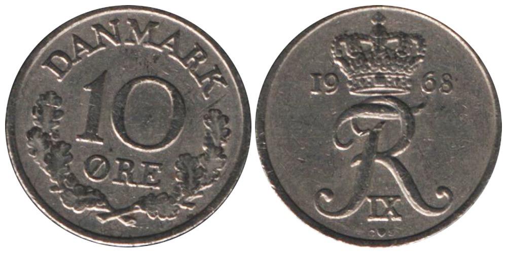 10 эре 1968 Дания