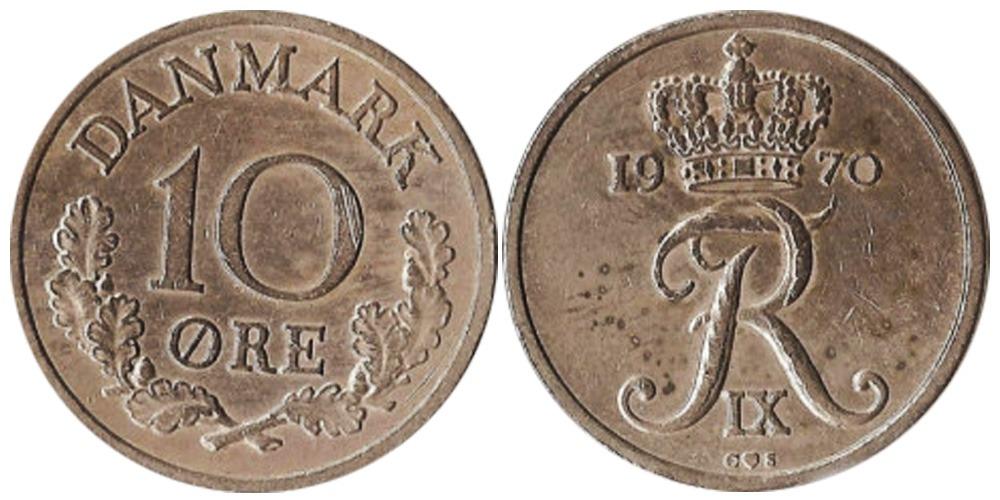 10 эре 1970 Дания