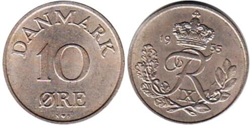 10 эре 1955 Дания