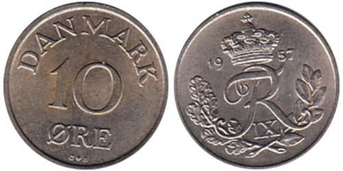10 эре 1957 Дания