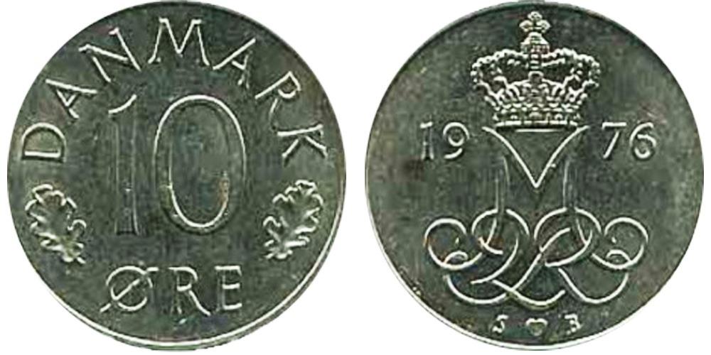 10 эре 1976 Дания