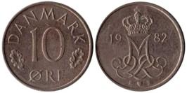 10 эре 1982 Дания