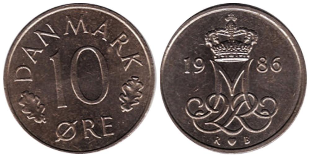 10 эре 1986 Дания