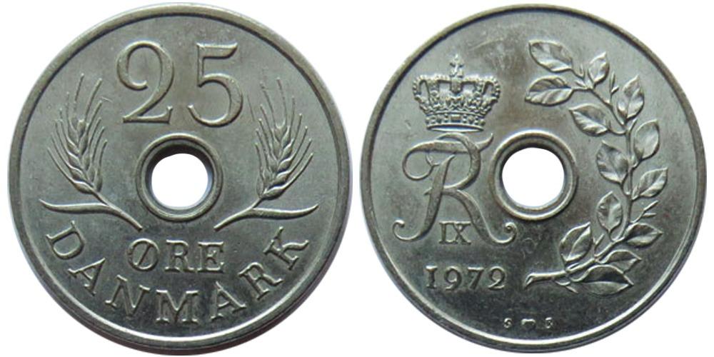 25 эре 1972 Дания
