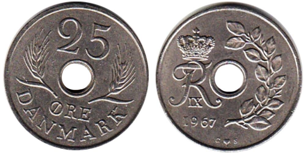 25 эре 1967 Дания