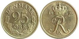 25 эре 1967 Дания — без отверстия
