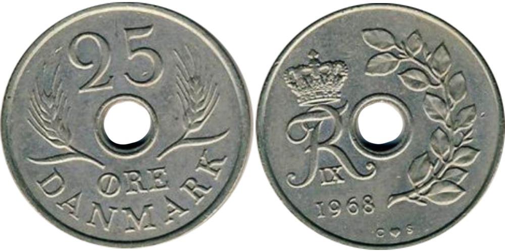 25 эре 1968 Дания
