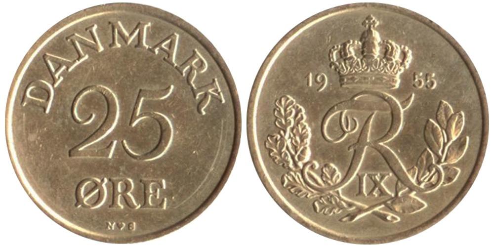 25 эре 1955 Дания