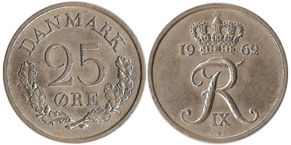 25 эре 1962 Дания
