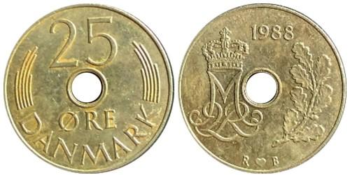 25 эре 1988 Дания