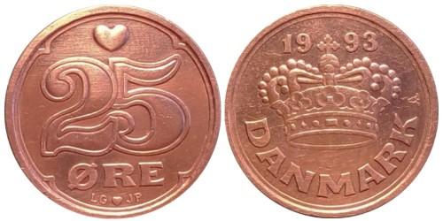 25 эре 1993 Дания