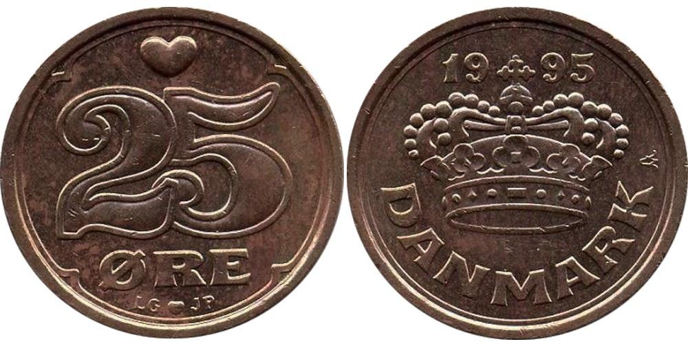 25 эре 1995 Дания
