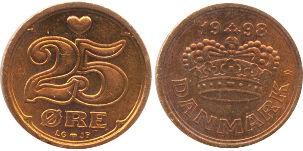 25 эре 1998 Дания