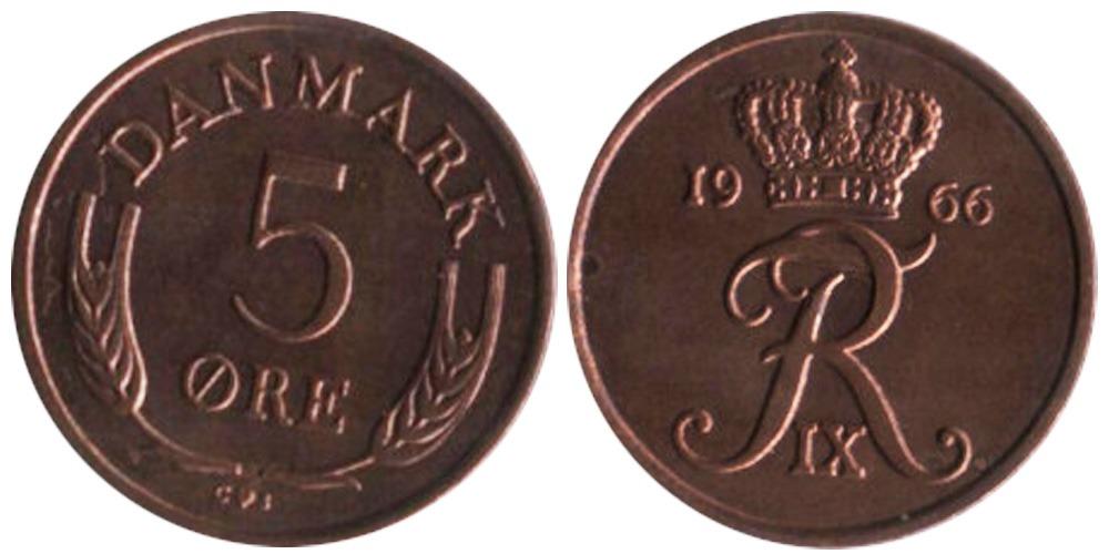 5 эре 1966 Дания