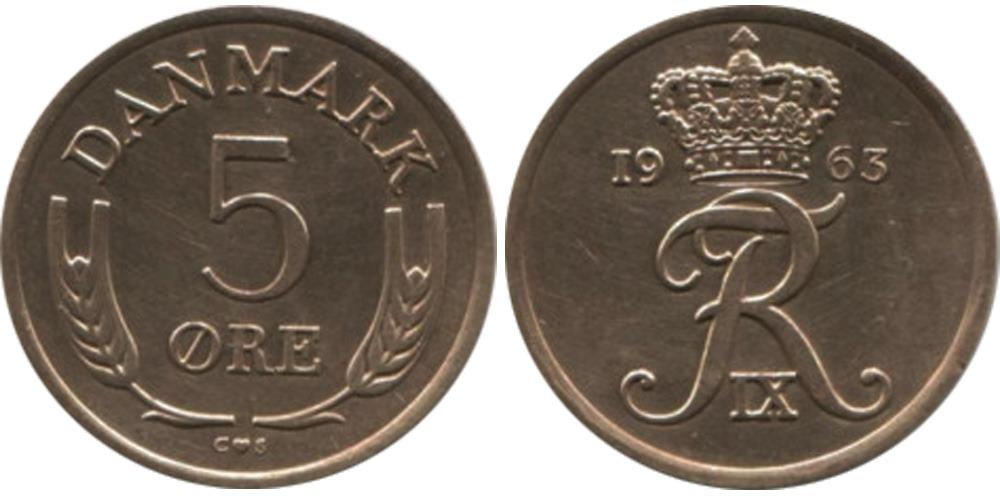 5 эре 1963 Дания