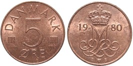 5 эре 1980 Дания