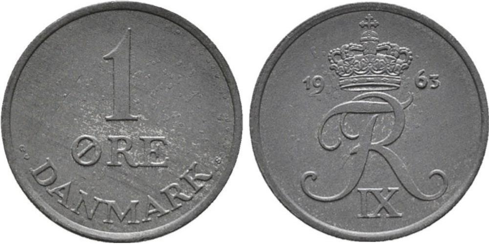 1 эре 1963 Дания