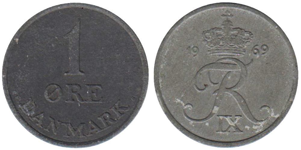 1 эре 1969 Дания