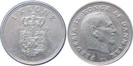 1 крона 1972 Дания