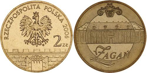 2 злотых 2006 Польша — Древние города Польши — Жагань