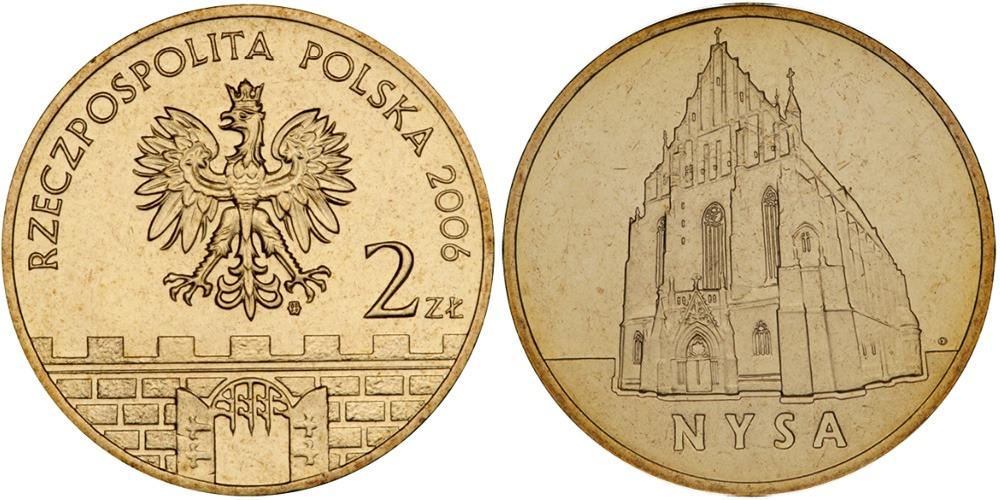 2 злотых 2006 Польша — Древние города Польши — Ныса