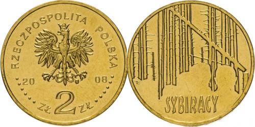 2 злотых 2008 Польша — Сибирские ссыльные